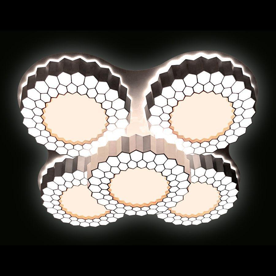 Люстра Ambrella light Orbital High-Tech FH13/5 WH 160W D550*550 потолочная 160w ufo led high bay light fixture 120 degree non dimmable warehouse lights 5700k