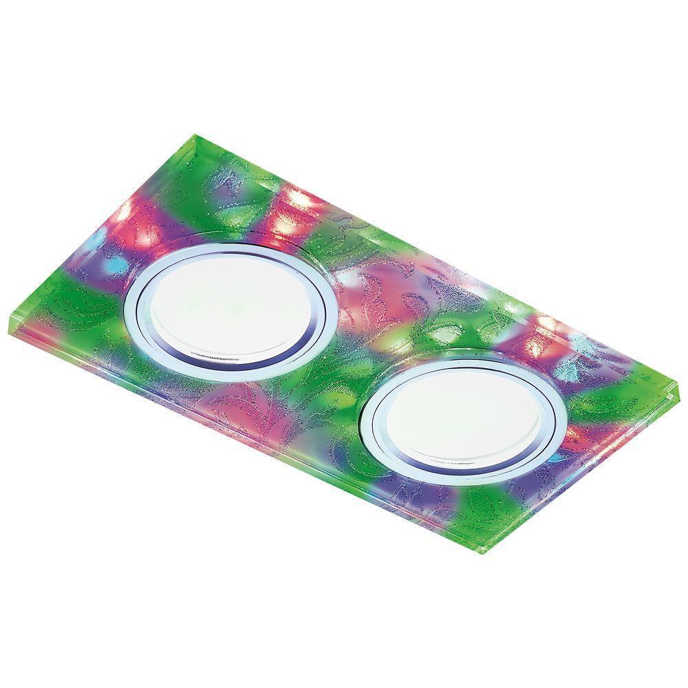 Встраиваемый светодиодный светильник Ambrella light Led S234/2 W/CH/M pro svet light mini par led 312 ir