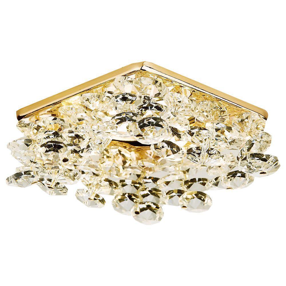 Встраиваемый светильник Ambrella light Crystal K309 CL/G new item crystal pendant lights modern lustre lamps black dinning room coffee shop light ac110v 220v