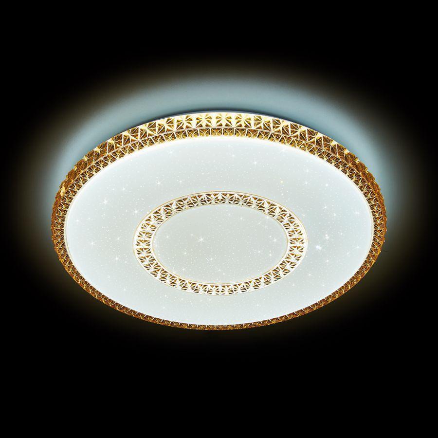 Потолочный светодиодный светильник Ambrella light Orbital Crystal F99 CF 96W D500 ambrella потолочный светодиодный светильник ambrella orbital design f79 pu 96w d540