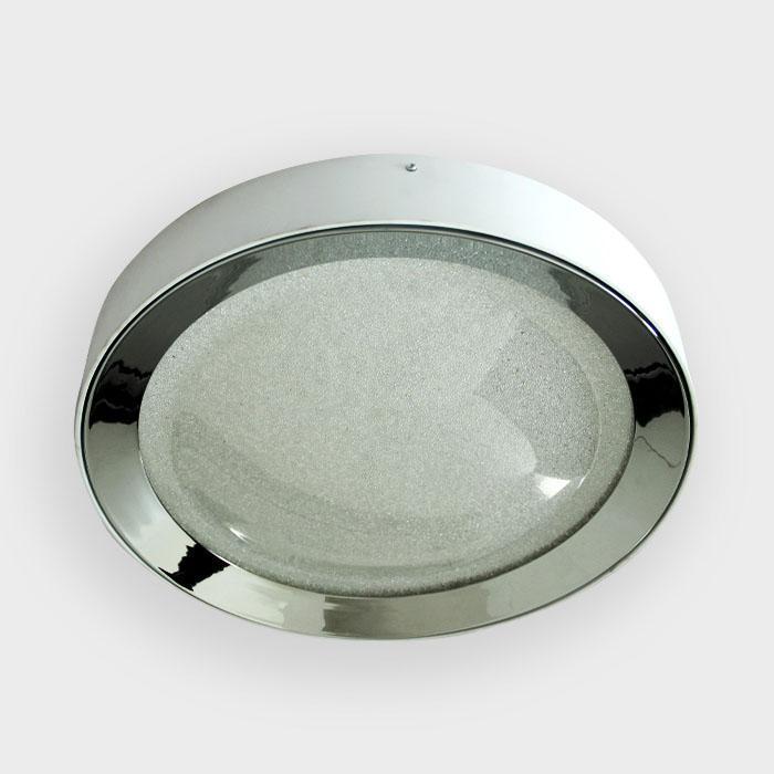 Потолочный светодиодный светильник Ambrella light Orbital Crystal Sand FS1212 WH/CH 64W+23W D500 потолочный светодиодный светильник ambrella light orbital crystal sand fs1216 wh ch 72w 29w d500 500