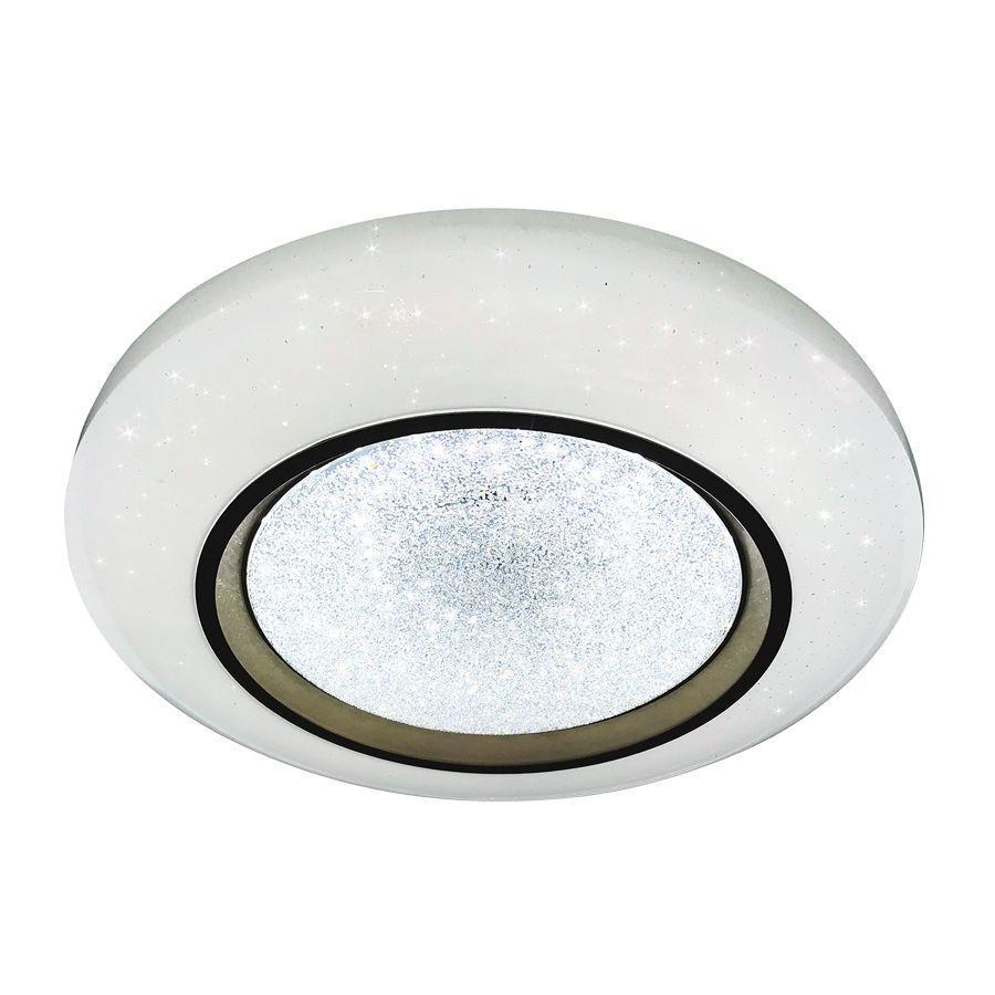 Потолочный светодиодный светильник Ambrella light Orbital Crystal Sand FS1233 WH/SD 48W D390 ambrella потолочный светодиодный светильник ambrella orbital crystal sand fs1540 wh sd 108w d540 540