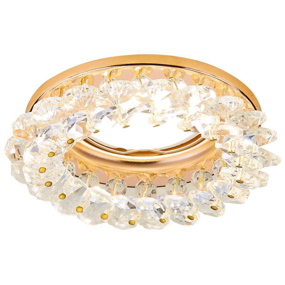 Встраиваемый светильник Ambrella light Crystal K206 CL/G ambrella встраиваемый светильник ambrella design d4060 cl g