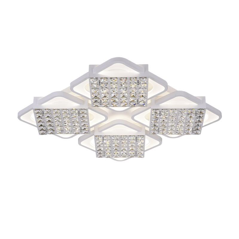 Потолочный светодиодный светильник Ambrella light Modern Acrylic FA128 acrylic snowflake led pendant light creative 32 light chrome color metal body pmma lampshade decoration light suspension lamp