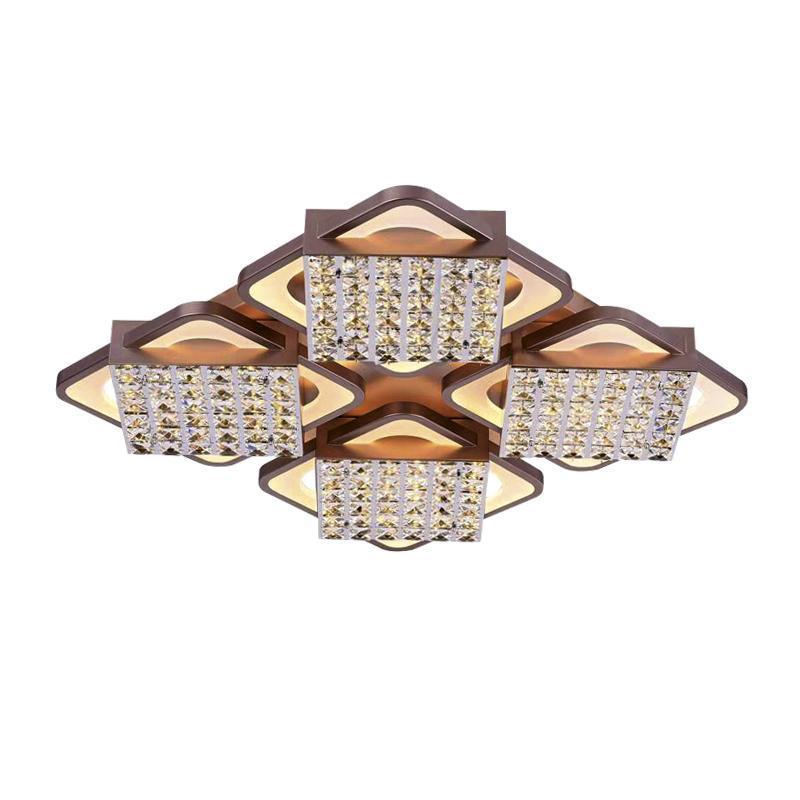 Потолочный светодиодный светильник Ambrella light Modern Acrylic FA129 acrylic snowflake led pendant light creative 32 light chrome color metal body pmma lampshade decoration light suspension lamp