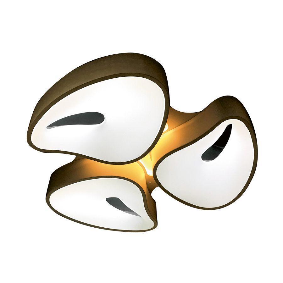 Потолочный светодиодный светильник Ambrella light Orbital Granule FG2083 WH 96W+12W D730*690 ambrella потолочный светодиодный светильник ambrella orbital design f79 pu 96w d540
