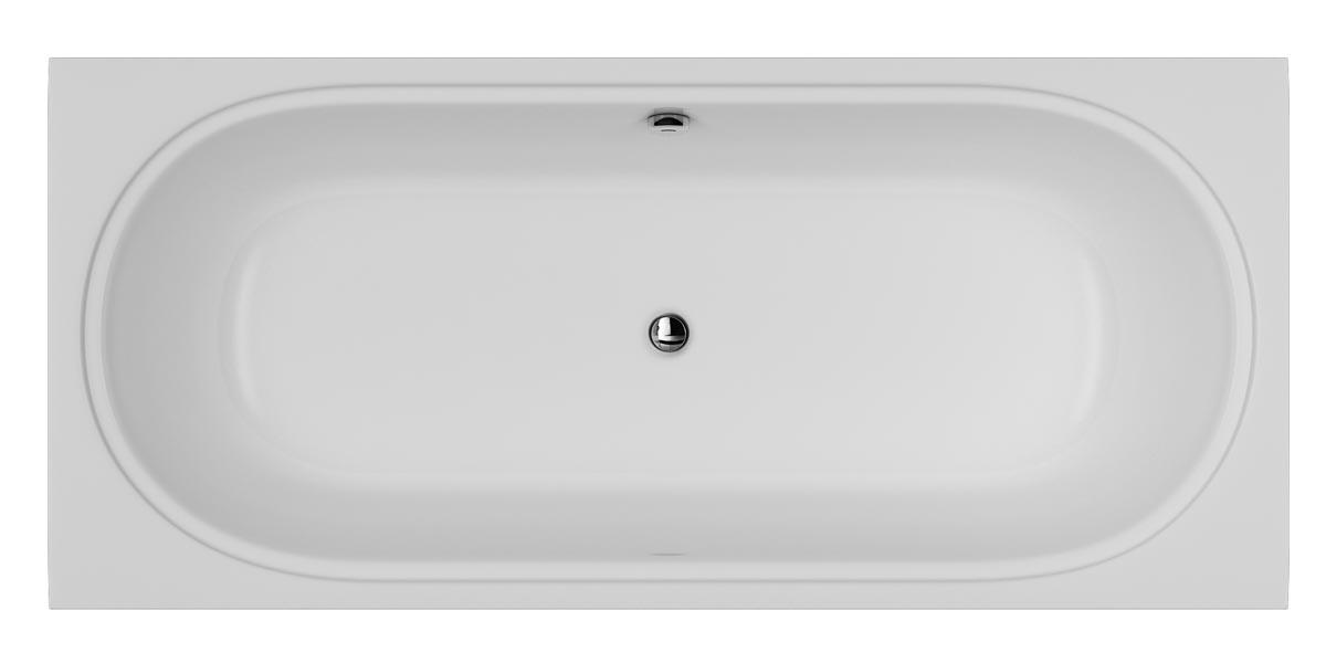 Акриловая ванна Am.pm Bliss L 180x80 каркас для ванны 160х105 5 см l am pm bliss l w53a 160l105w r