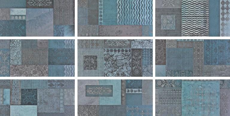 Настенная плитка Aparici +25241 Outre Blue настенная плитка porcelanosa antique blue 31 6x90