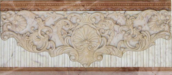 Бордюр Aparici +12887 EMILE BEIGE CF бордюр capri i travertini bombato travertino beige 2x30