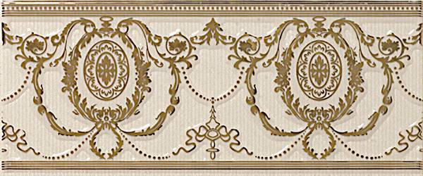 Бордюр APE Ceramica Loire +17567 Listelo Agustine Gold Ivory бордюр ape ceramica loire moldura candes ivory 5x25