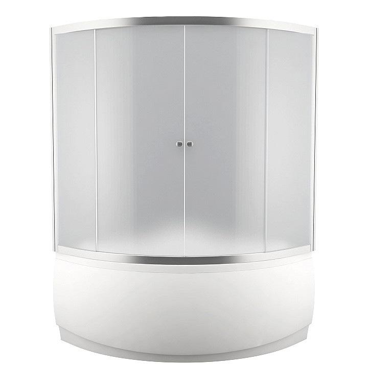 Шторка для ванны Aquanet Malta 150*150*185 прозрачное стекло душевая шторка на ванну royal bath alpine стекло прозрачное rb160alp t