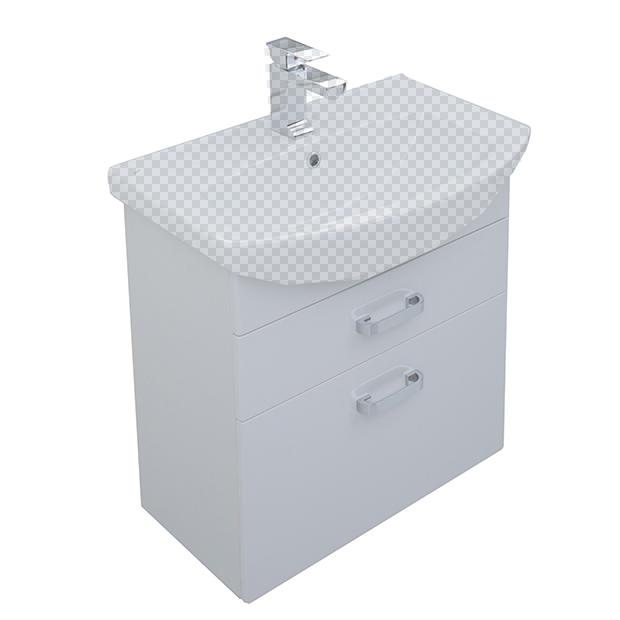 Тумба под раковину Aquanet Ирис 65 белый 2 ящика nowley nowley 8 5532 0 2