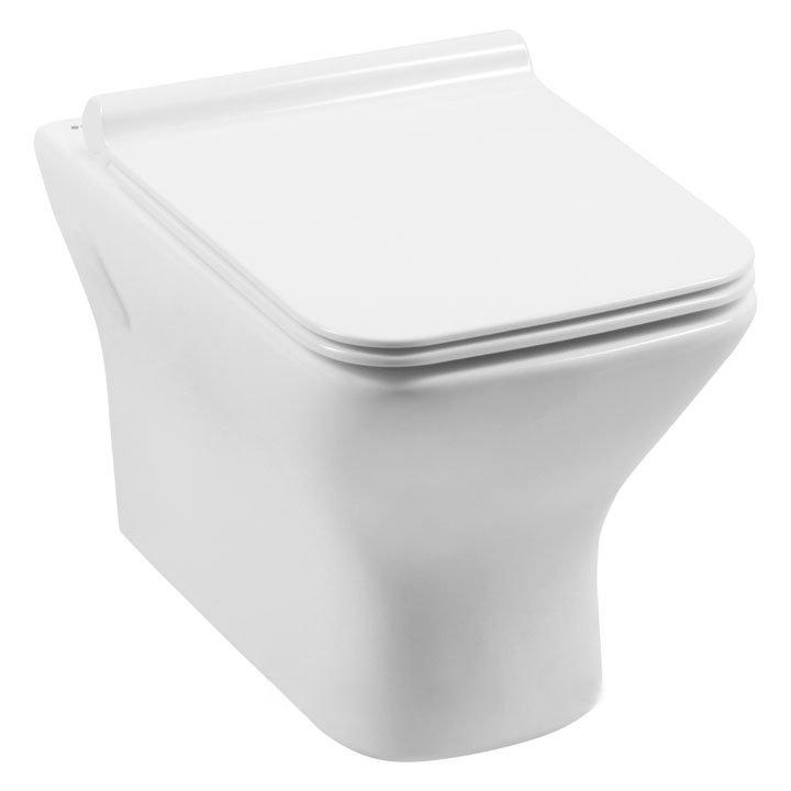 Подвесной унитаз Aquanet Cube-W Rimless с сиденьем комплект iddis ne01ps0i73 унитаз подвесной инсталляция сиденье с функцией soft close