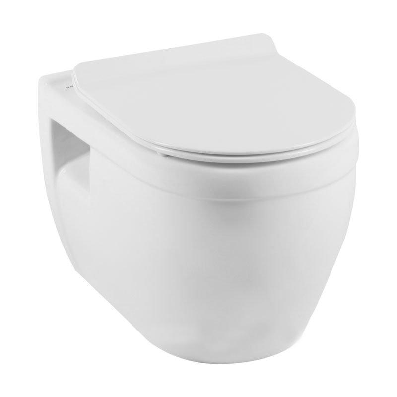 Подвесной унитаз Aquanet Glide-W Rimless с сиденьем комплект iddis ne01ps0i73 унитаз подвесной инсталляция сиденье с функцией soft close