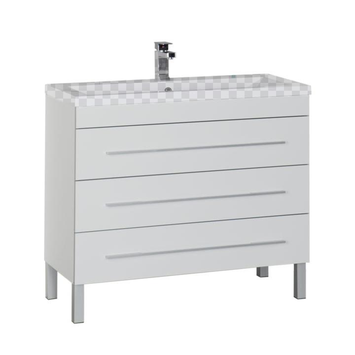 Тумба под раковину Aquanet Верона 100 напольная белый комплект мебели aquanet верона напольная 100 цвет белый