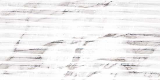 Carrara White Lined Shine плитка настенная структ. 300x600 мм