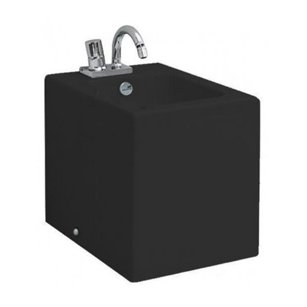 Напольное биде ArtCeram Block BKB002 03;00 (чёрный) цена