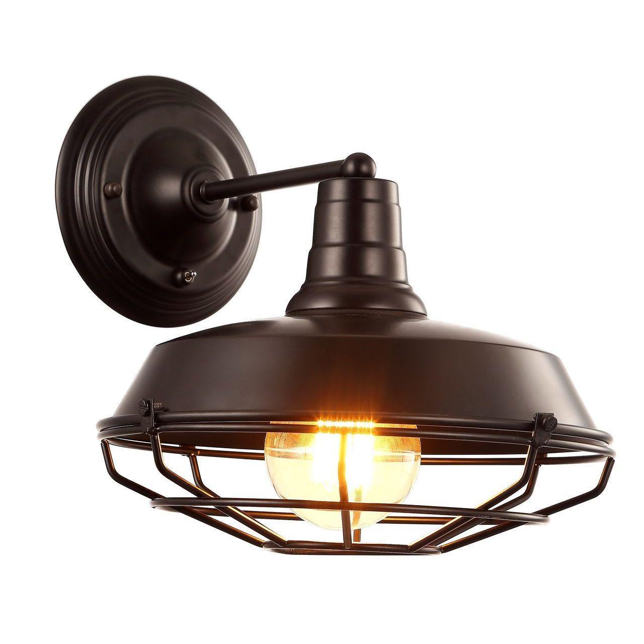 Бра Arte Lamp Ferrico A9183AP-1BK бра arte lamp ferrico a9183ap 1wg