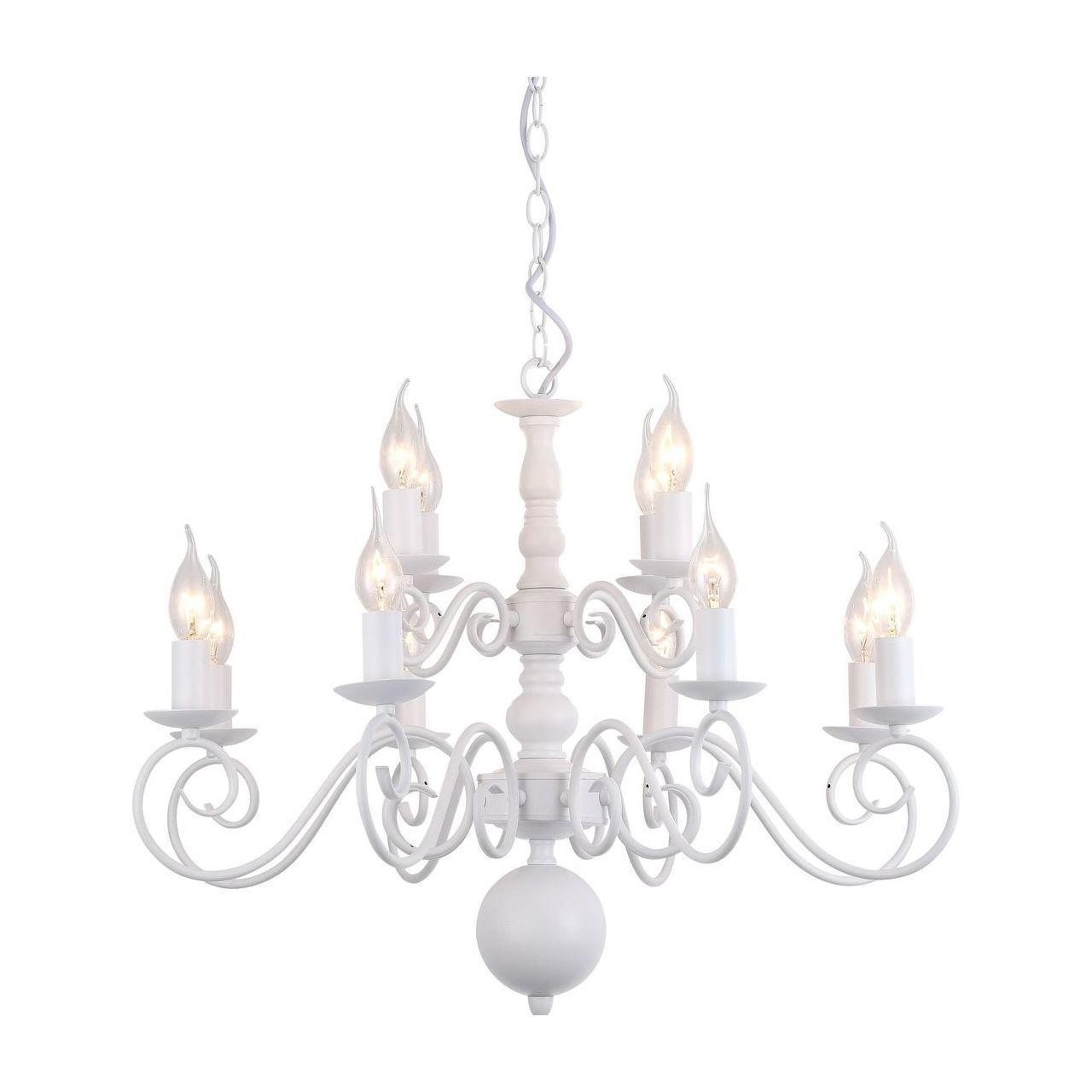Люстра Arte Lamp A1129LM-12WH подвесная 33 element 331524