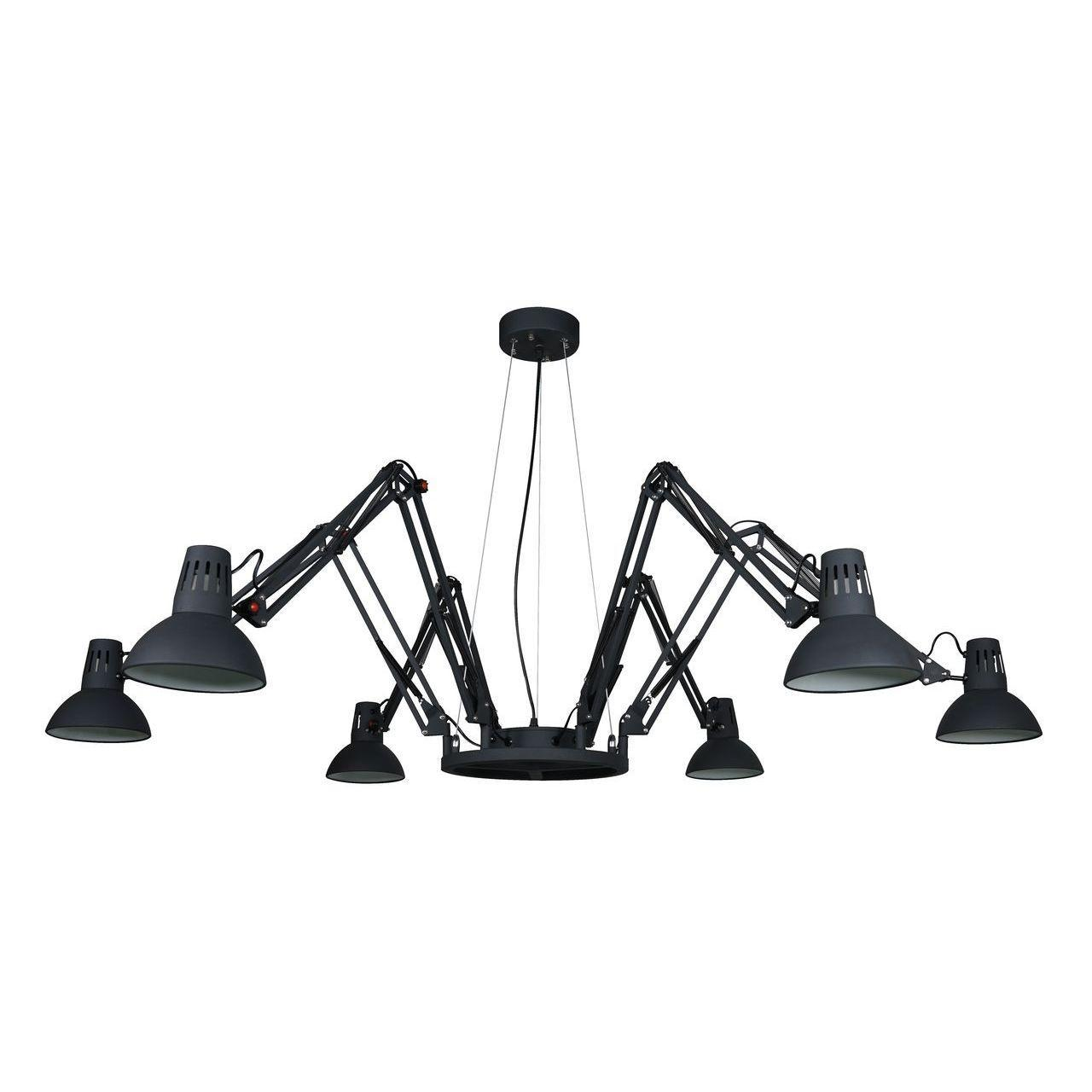 Люстра Arte Lamp Ragno A2043SP-6BK подвесная подвесная люстра arte lamp ragno a2043sp 16wh