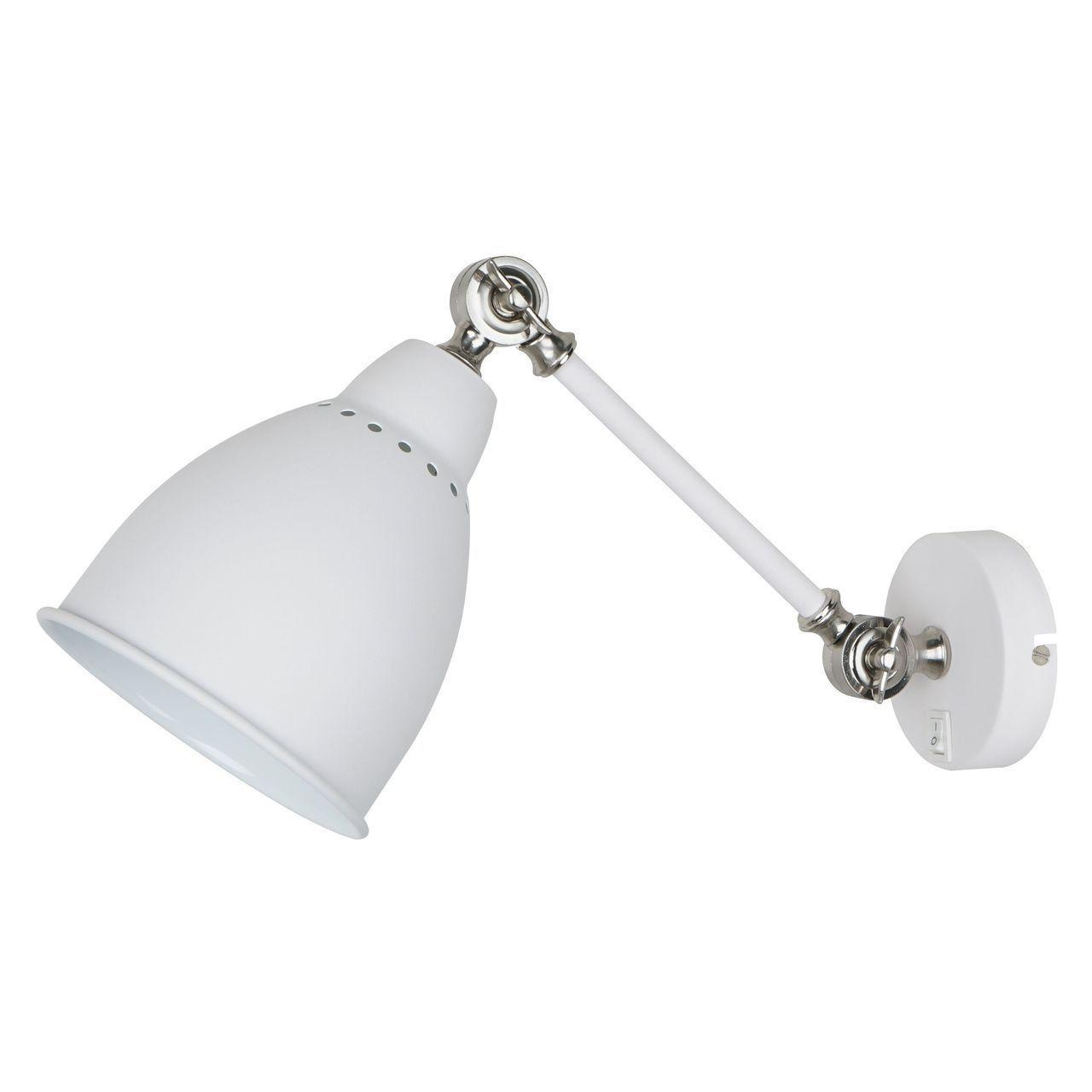 Спот Arte Lamp Braccio A2054AP-1WH бра arte lamp braccio a2054ap 1bk