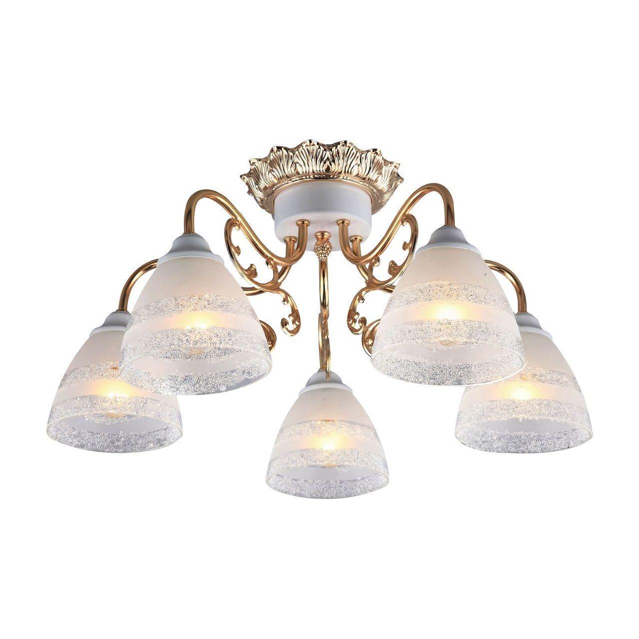 купить Люстра Arte Lamp A7072PL-5WG потолочная по цене 6300 рублей
