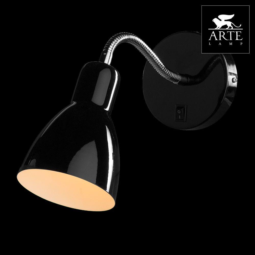 Спот Arte Lamp Dorm A1408AP-1BK arte lamp спот arte lamp dorm a1408ap 1wh