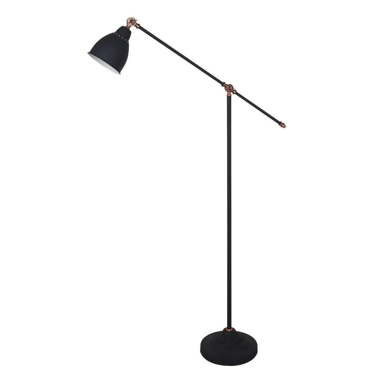 Торшер Arte Lamp Braccio A2054PN-1BK arte lamp торшер arte lamp 43 a2054pn 1ss