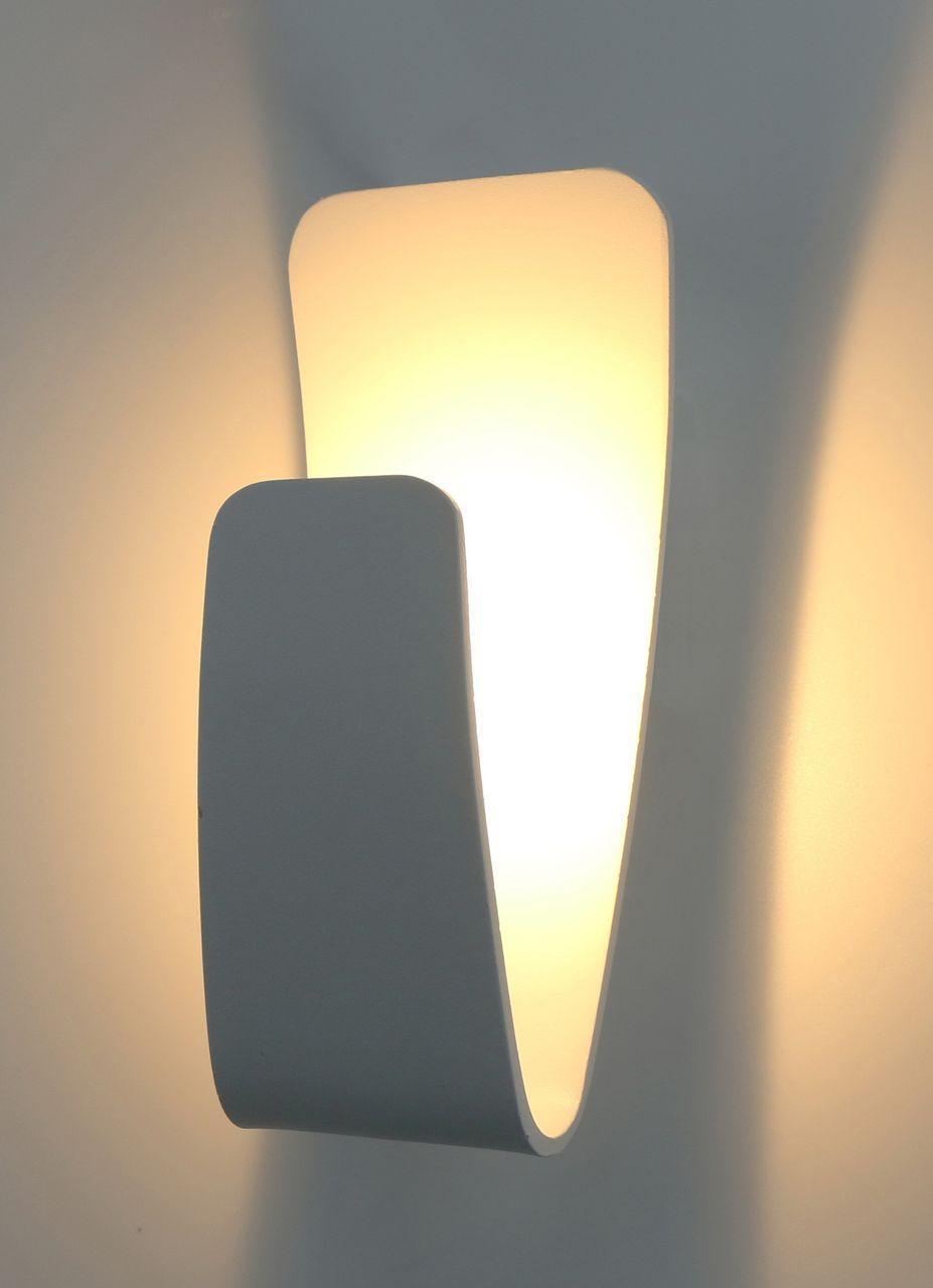Настенный светодиодный светильник Arte Lamp Virgola A1418AP-1WH накладной светильник arte lamp a1418ap 1wh