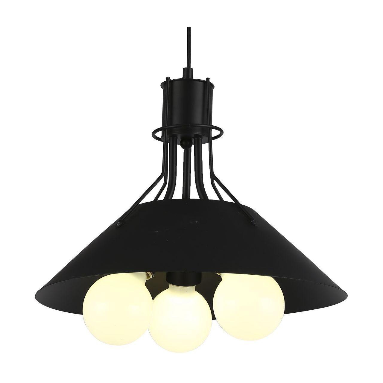 Подвесная люстра Arte Lamp A9347SP-3BK накладной светильник arte lamp falcon a5633pl 3bk