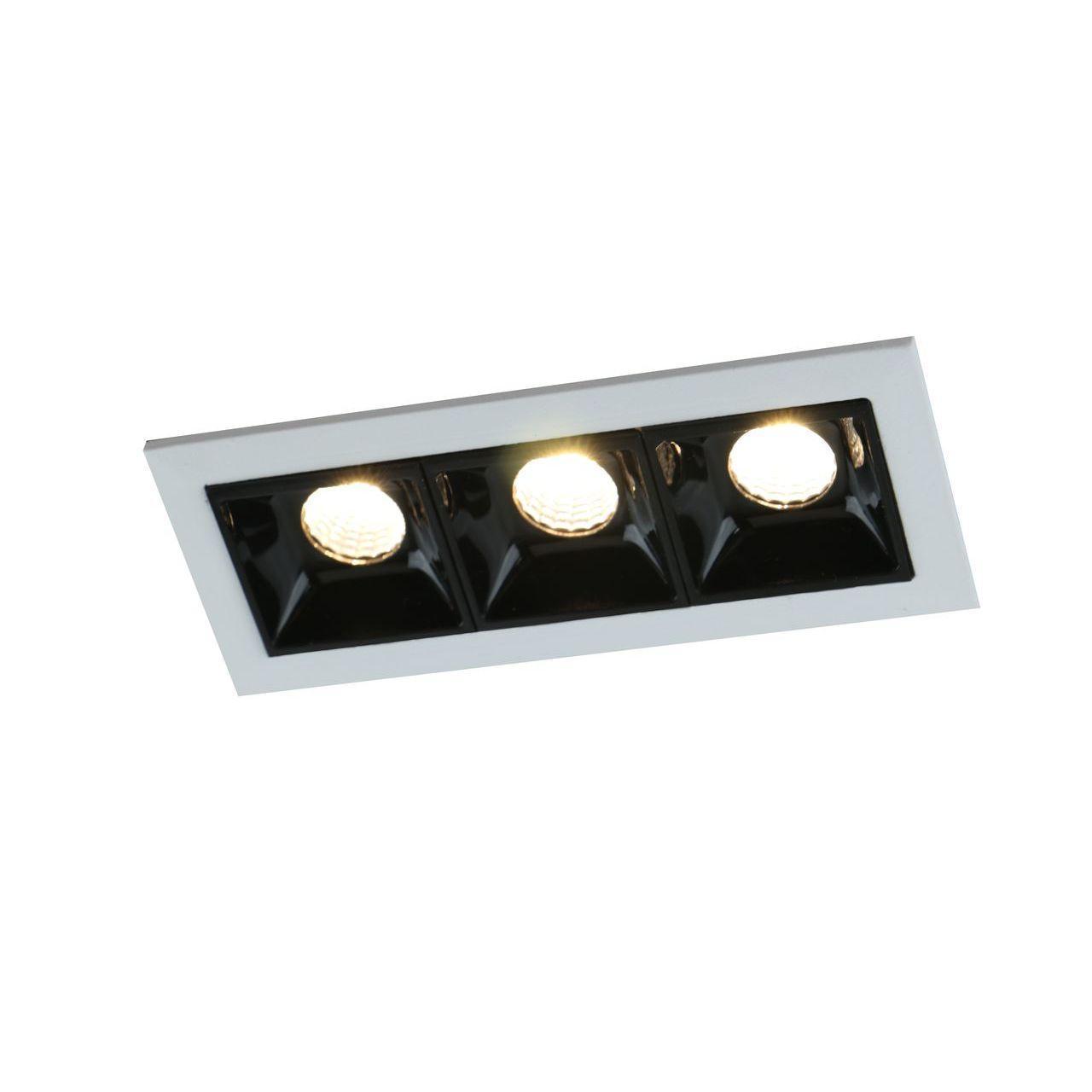 Встраиваемый светодиодный светильник Arte Lamp Grill A3153PL-3BK накладной светильник arte lamp falcon a5633pl 3bk