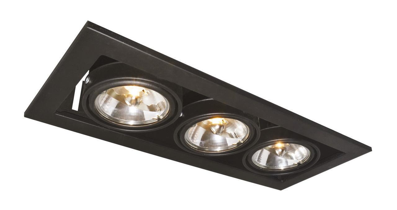 Встраиваемый светильник Arte Lamp Technika A5930PL-3BK накладной светильник arte lamp falcon a5633pl 3bk