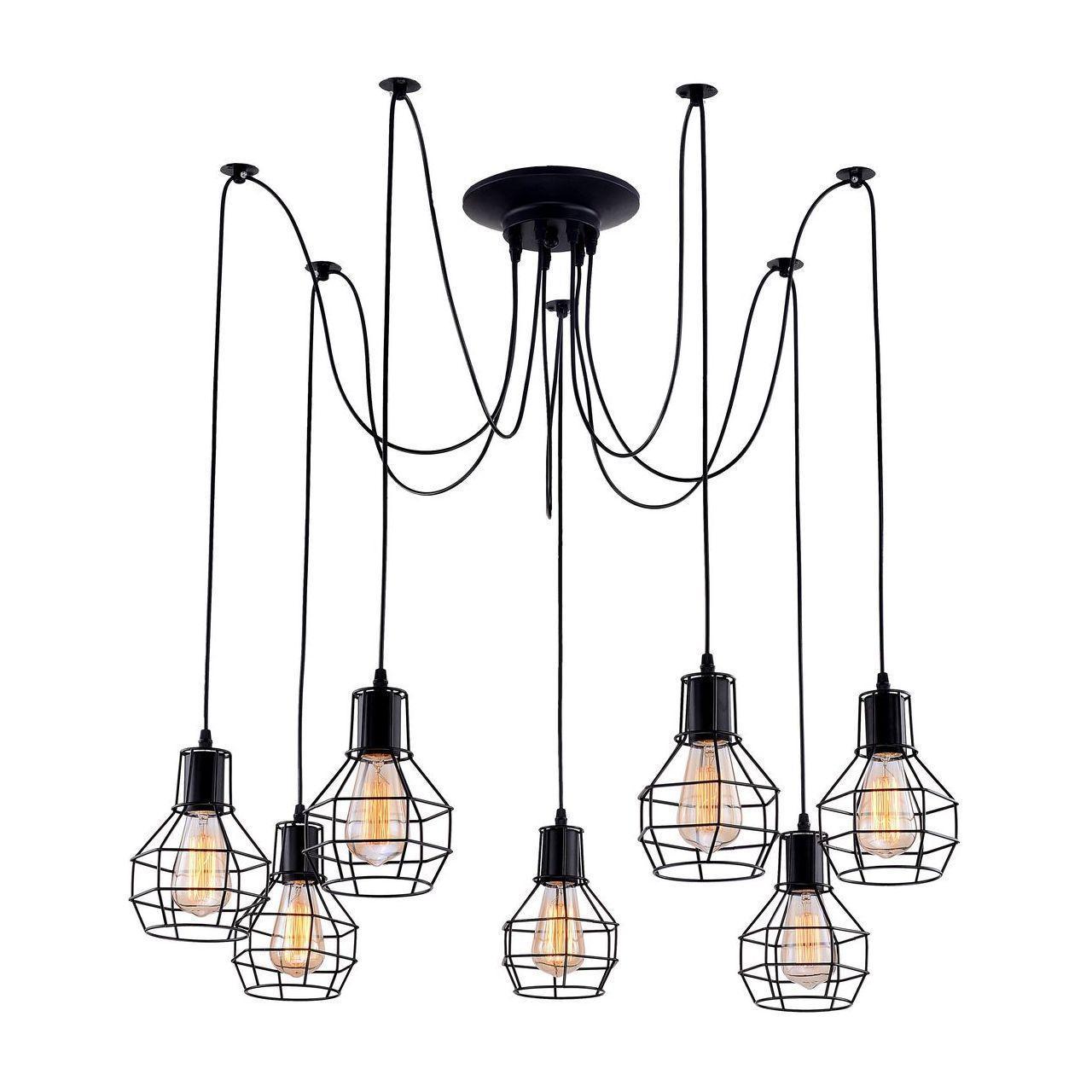 Люстра Arte Lamp A1109SP-7BK подвесная 33 element 331520