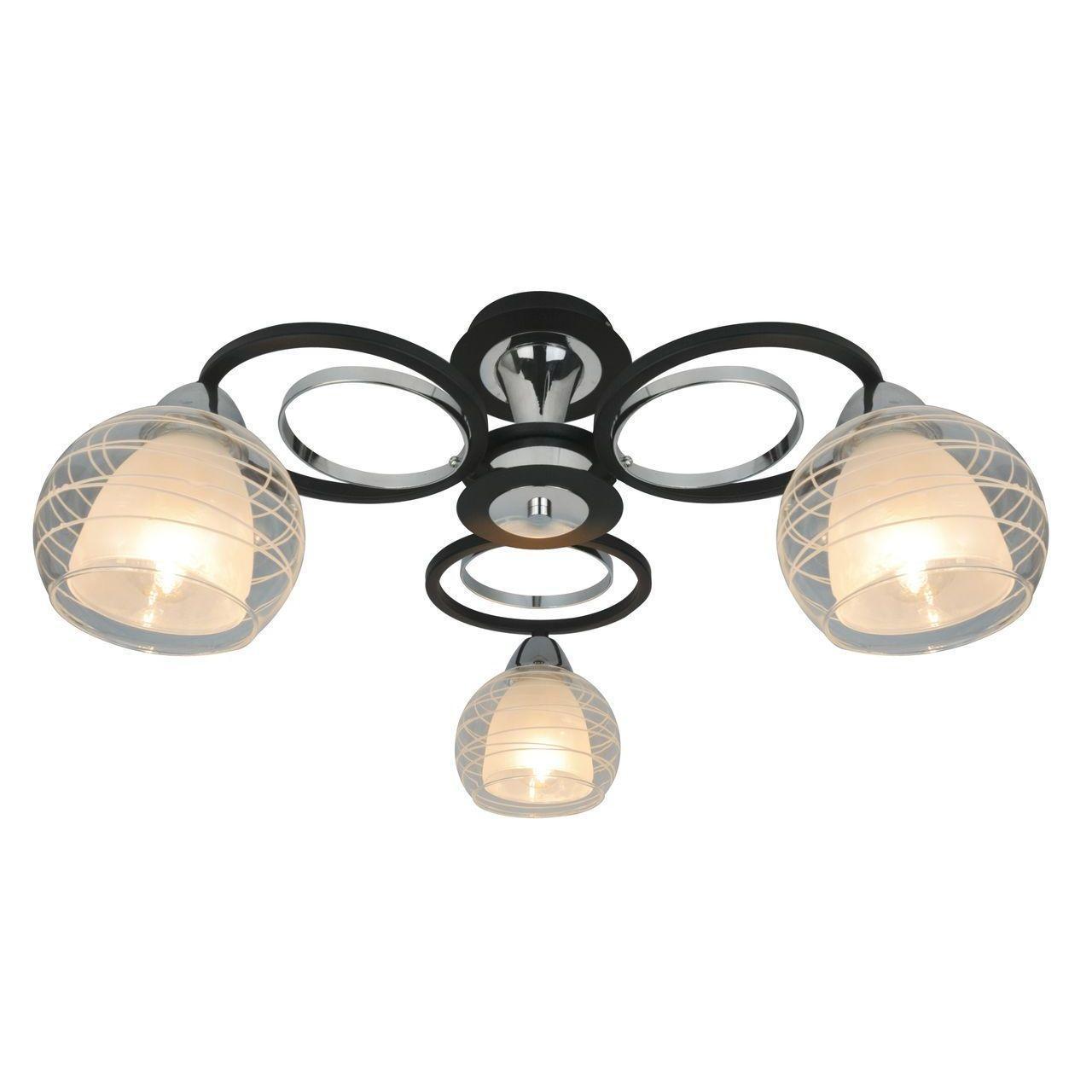Потолочная люстра Arte Lamp Ginevra A1604PL-3BK накладной светильник arte lamp falcon a5633pl 3bk