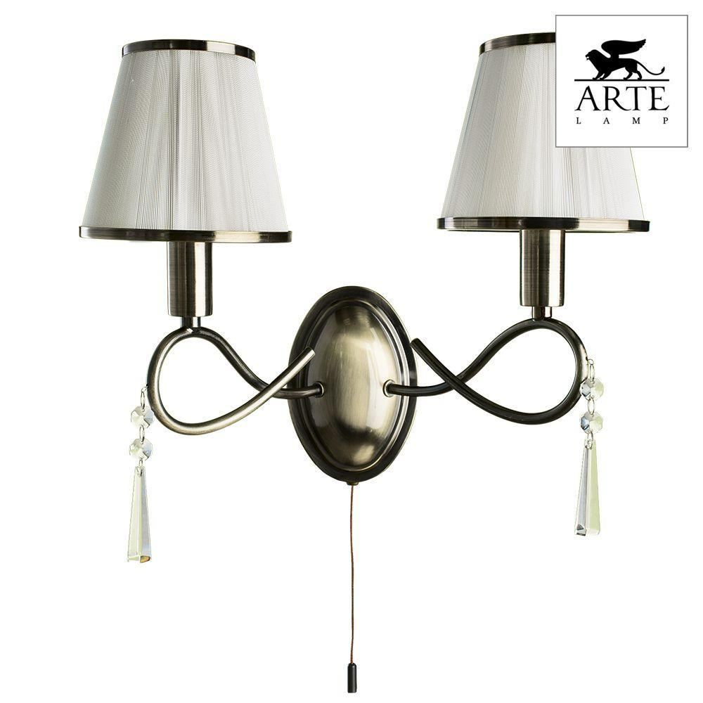 Бра Arte Lamp Logico A1035AP-2AB цена