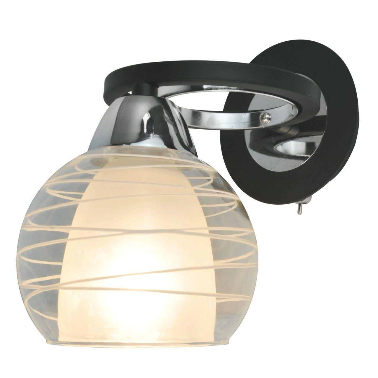 лучшая цена Бра Arte Lamp Ginevra A1604AP-1BK