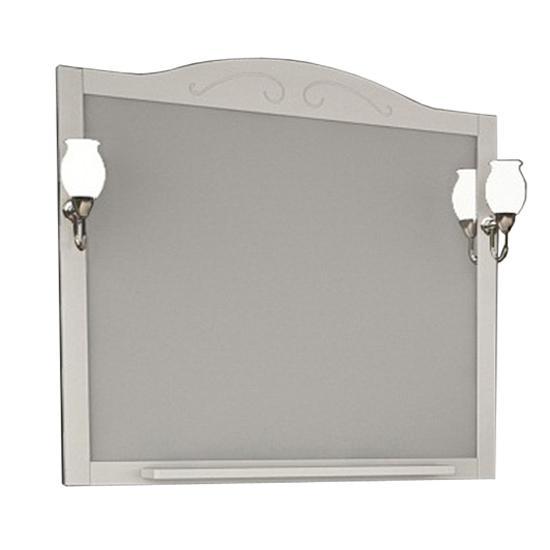 Зеркало АСБ мебель Флоренция 105 Woodline белый/патина серебро зеркало для ванной комнаты berossi с аксессуарами цвет белый