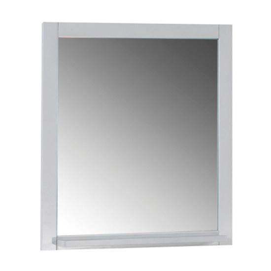 Зеркало АСБ мебель Римини 60 Woodline белый/патина серебро зеркало для ванной комнаты berossi с аксессуарами цвет белый