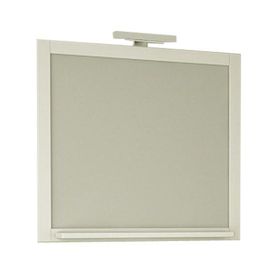 Зеркало АСБ мебель Римини 80 Woodline белый/патина серебро зеркало для ванной комнаты berossi с аксессуарами цвет белый