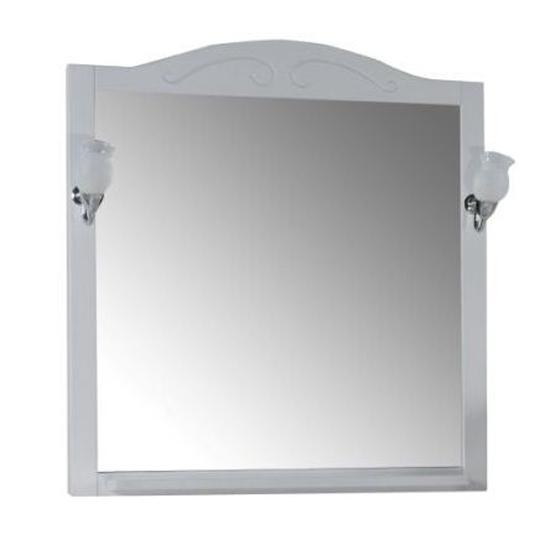 Зеркало АСБ мебель Флоренция 85 Woodline белый/патина серебро