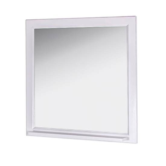 Зеркало АСБ мебель Бергамо 85 Woodline белый/патина серебро