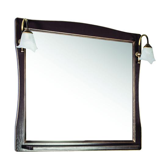 Зеркало АСБ мебель Модена 85 Woodline орех/патина золото