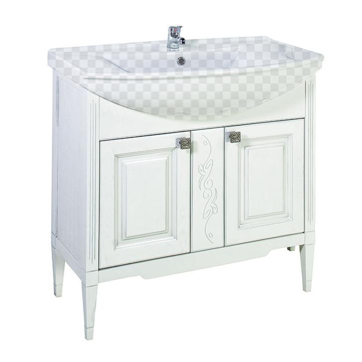 Тумба под раковину АСБ мебель Модена 85 Woodline белый/патина серебро тумба под раковину асб мебель магнолия 600 мм напольная дуб янтарный бел