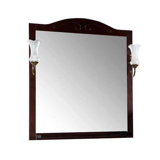 Зеркало АСБ мебель Флоренция Квадро 80 Woodline бук тироль