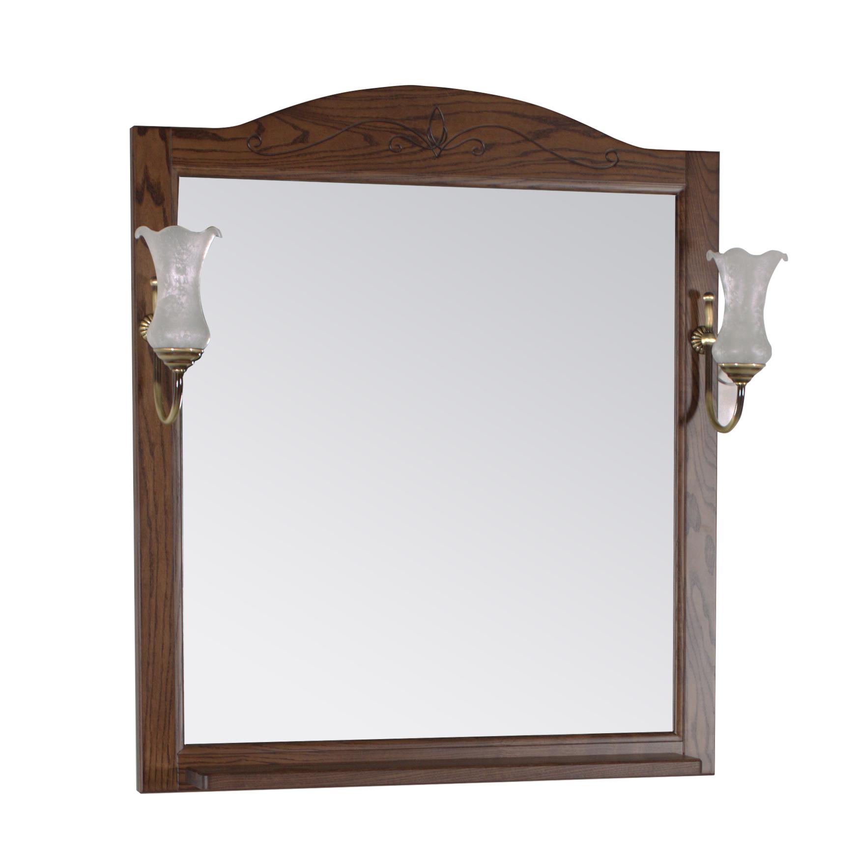 Зеркало АСБ мебель Салерно 80 Woodline антикварный орех цена