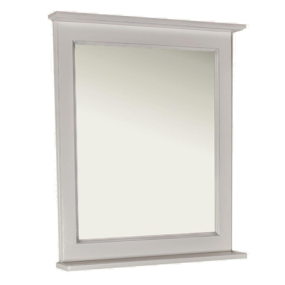 Зеркало АСБ мебель Прато 70 Woodline белый/патина серебро цена