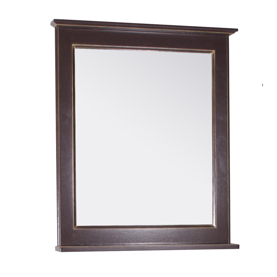 Зеркало АСБ мебель Прато 70 Woodline орех/патина золото мебель для ванной comforty