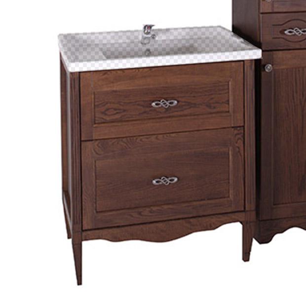 Тумба под раковину АСБ мебель Римини Nuovo 80 Woodline caprigo мебель для ванной caprigo джардин 80 ontano