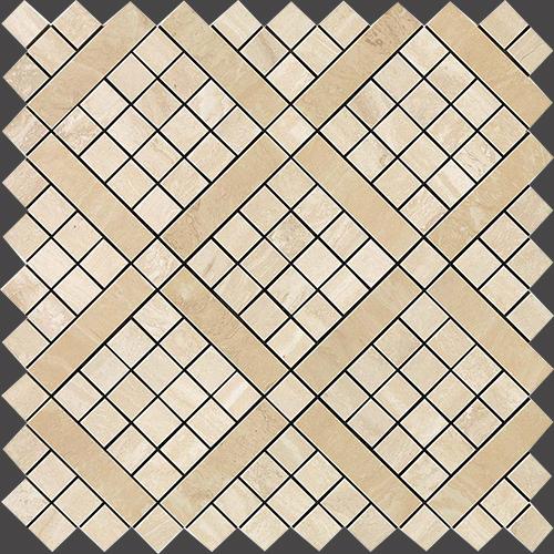 Мозаика Atlas Concorde Italy Marvel Pro +17366 Trav.Alabastrino Diagonal Mosaic 30,5х30,5