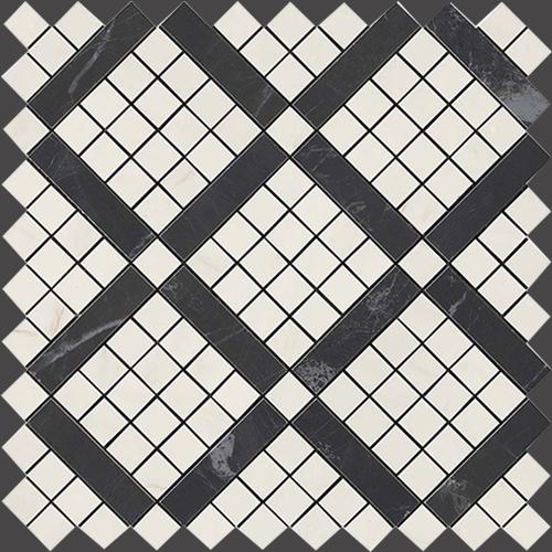 Мозаика Atlas Concorde Italy Marvel Pro +17390 Cremo Mix Diagonal Mosaic 30,5х30,5 мозаичный декор atlas concorde marvel pro noir mix diagonal mosaic 30 5x30 5
